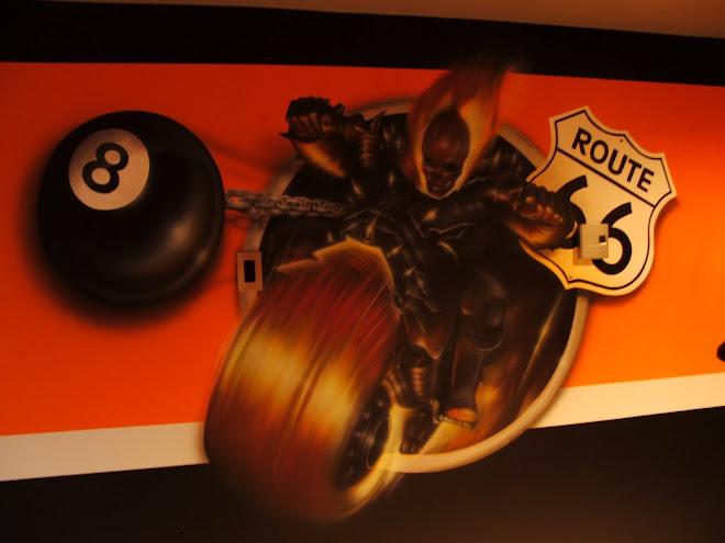 murale ghost rider 8 ball