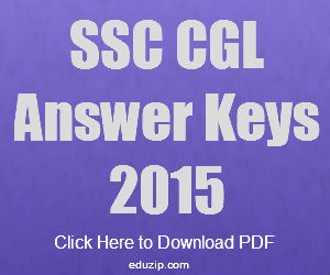 SSC CGL 2015 Answer Key