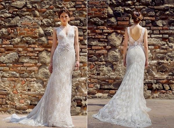 Cô dâu mùa thu với váy cưới ren hở lưng quyến rũ1