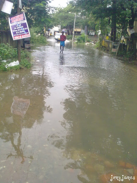 Flood in Velachery, Chennai, 2010