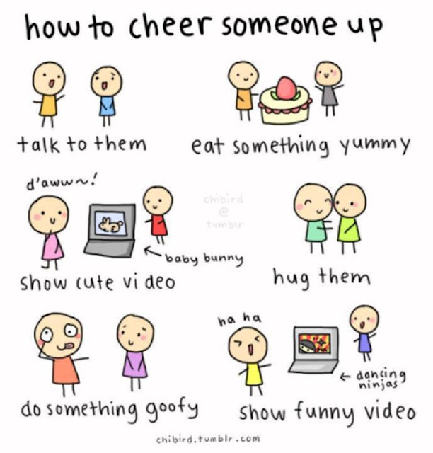 Image result for cheer up a depressed friend
