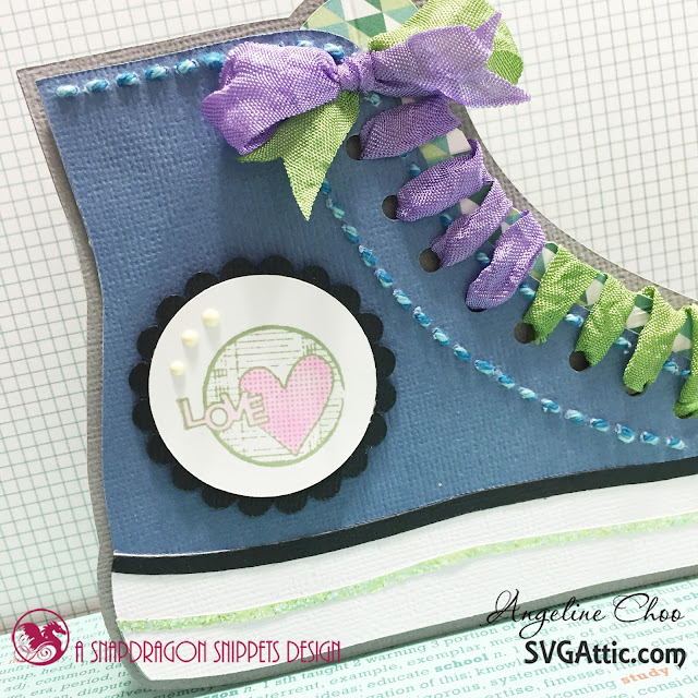 ScrappyScrappy: Sneaker card - back to school #scrappyscrappy #svgattic #3girljam #card #ribbon #svg #cutfile #unitystampco #stamp
