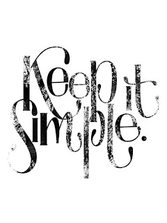 keep it simple-life quote