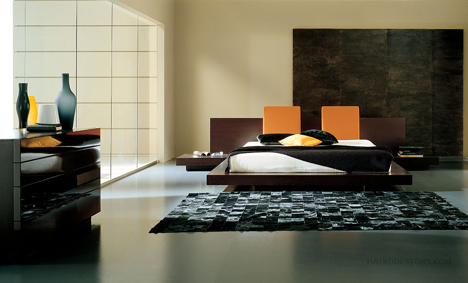 Platform Bed Decoration Furniture Asian Contemporary Bedroom Furniture From HAIKU Designs
