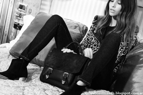Lazaro otoño invierno 2014. Moda zapatos y carteras invierno 2014.