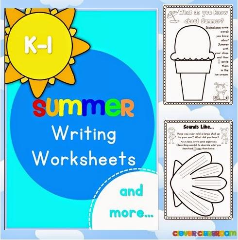 Summer Worksheet Printables for K-1