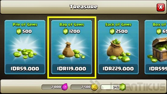 Gems Gratis di Clash Of Clans