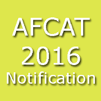 AFCAT 2016 Notification