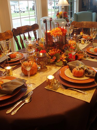 Setting The Table For Thanksgiving Walking On Sunshine