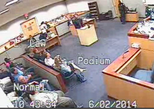 Judge beats lawyer