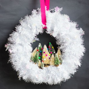 Mini tree wreath!