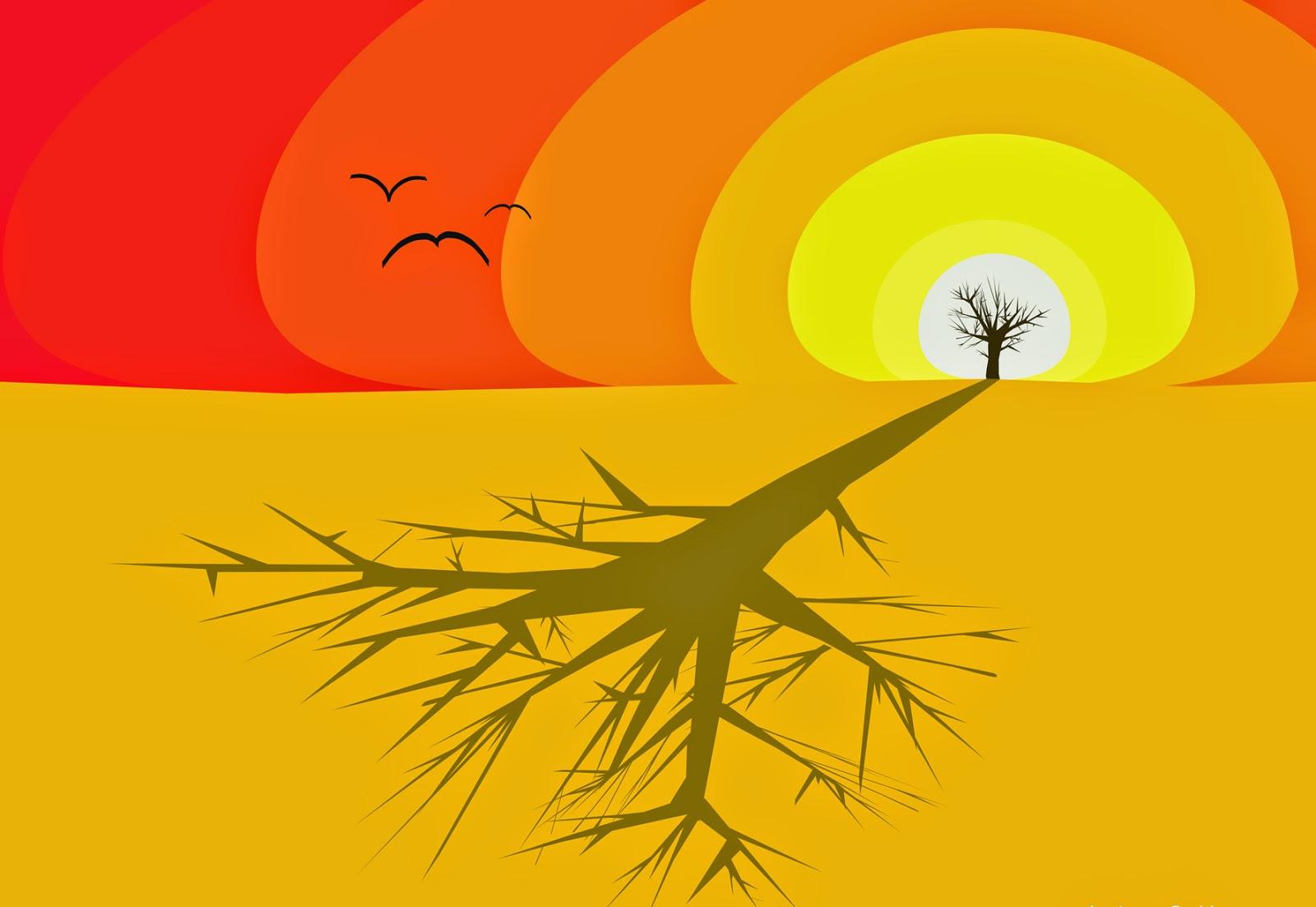 Sunset in the desert, Atardecer en el desierto, Posta de sol al desert, Sonnenuntergang in der Wüste, Coucher de soleil dans le désert,夕阳在沙漠中