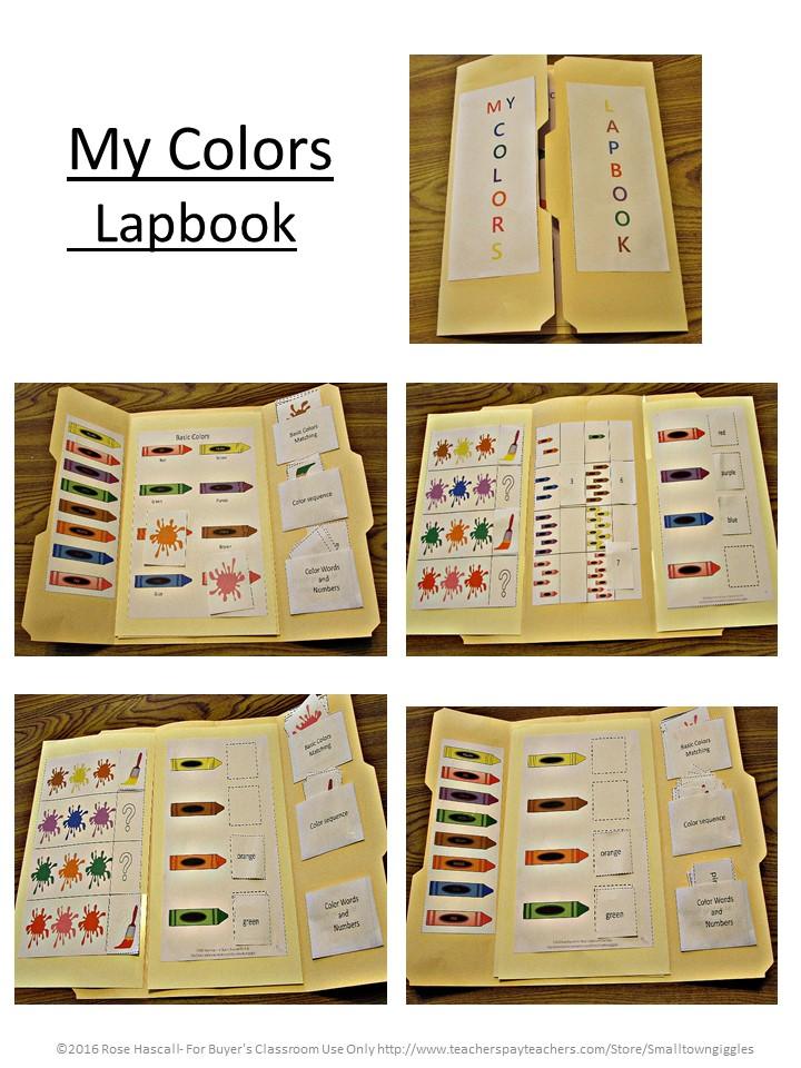My Colors Interactive Lapbook
