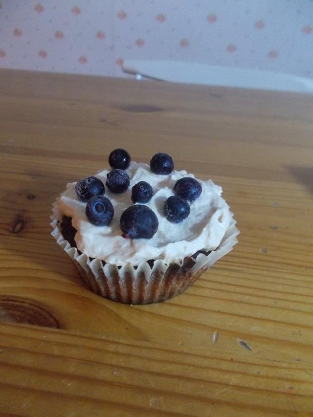 Speltti mustikka muffinssi