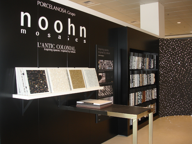the new porcelanosa group store has a surface area of square metres that will be used to display and sell products from the companyus eight brands