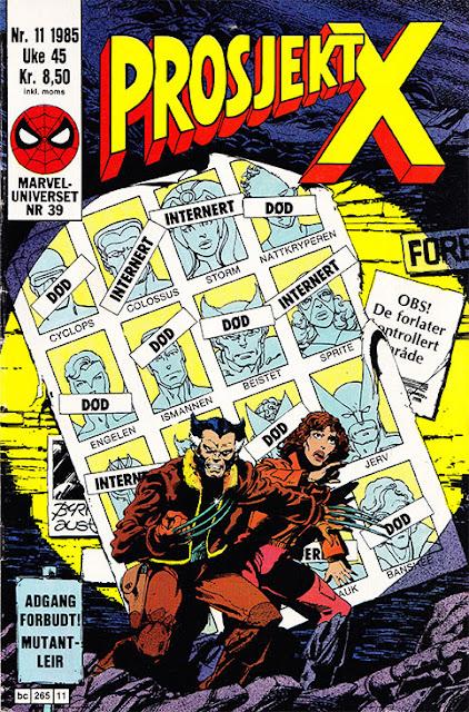 Forsiden til Prosjekt X nr. 11 - 1985