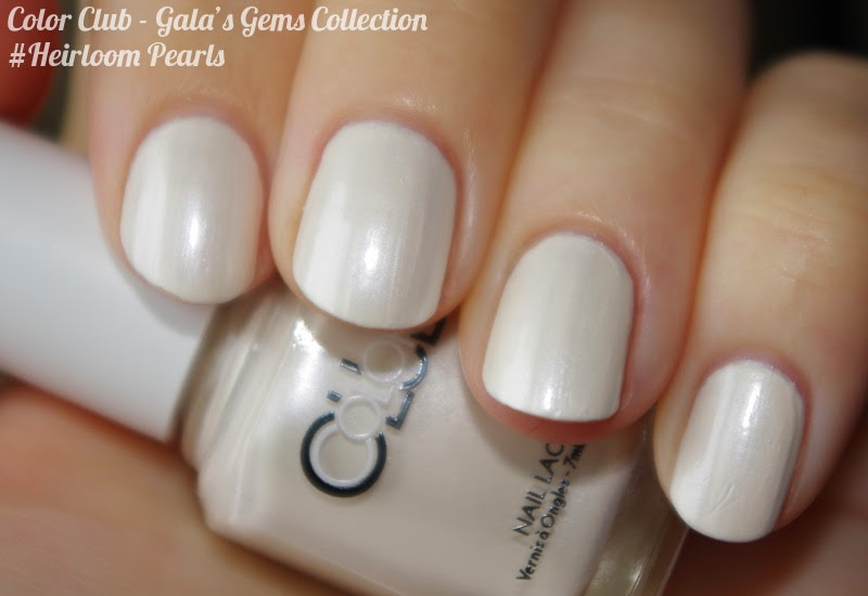 Swatch vernis Color Club Gala's Gems collection #Heirloom Pearl