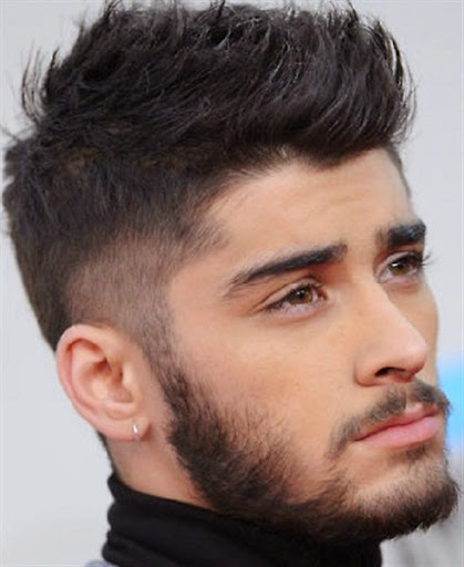 gambar gaya model rambut zayn malik personel one direction