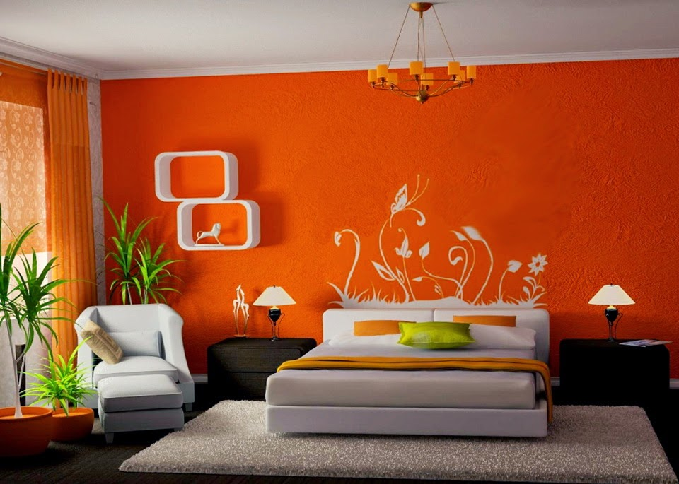 Lovely Decoración De Habitaciones Con Color Naranja