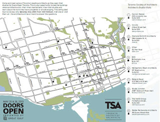 Doors Open Toronto Architectural and Design Studio Self Guided Tour Map; May 25, 2013