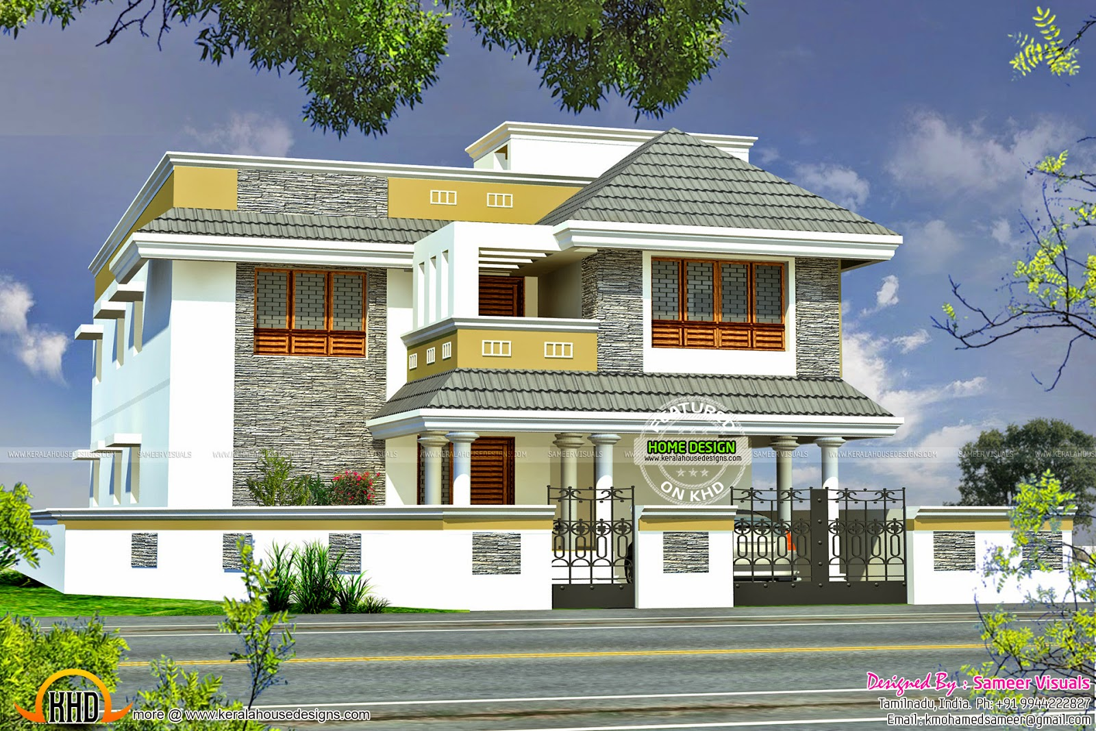 Tamilnadu house plan kerala home design and floor plans for Tamilnadu home design photos