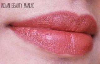 Lakme 9 to 5 Lipstick in MR5 Roseate Motive Review Swatch and on my lips