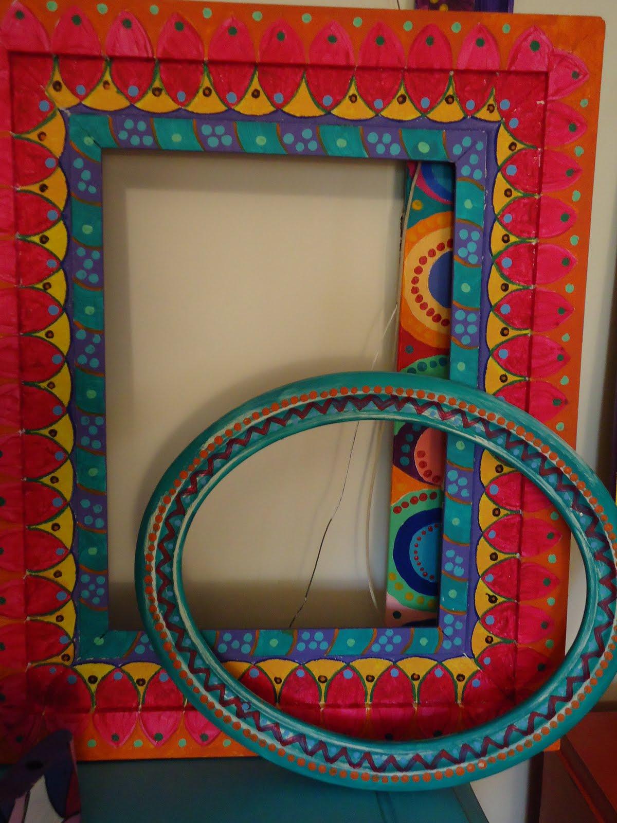 Vintouch muebles reciclados pintados a mano marcos Muebles antiguos pintados a mano