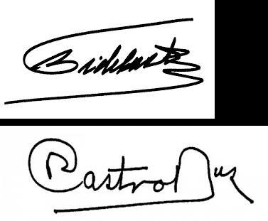 Análisis de las firmas de Fidel Castro y Raul Castro