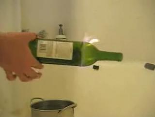 Experimentos Caseros cortar cristal hilo fuego