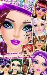 Screenshots of the Makeupme: Superstar for Android tablet, phone.