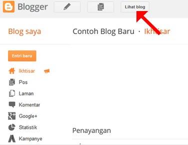 Blog baru sudah berhasil dibuat