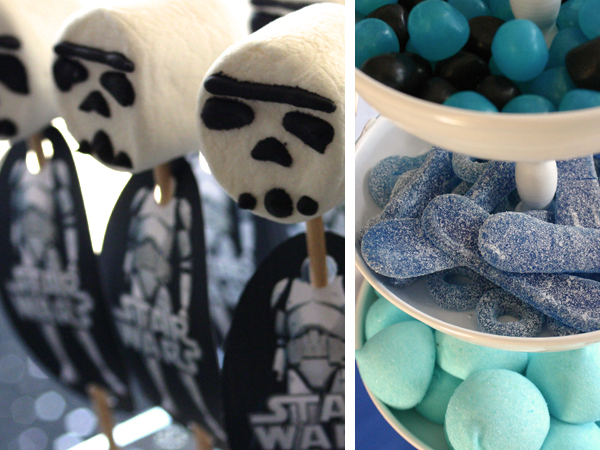 Sweet table - Star Wars - storm troopers pops