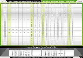 Jadwal KRL per 1 April 2013 Maja/Parung Panjang/Serpong-Tanah Abang & Manggarai -Tanah Abang/Angke