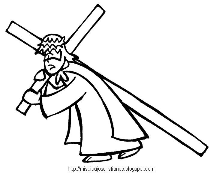 Mis Dibujos Cristianos Cargando la cruz  Carrying the cross