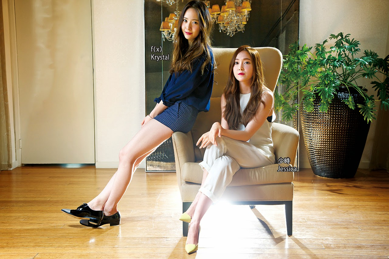 Jessica SNSD and f(x) Krystal - Apple Daily