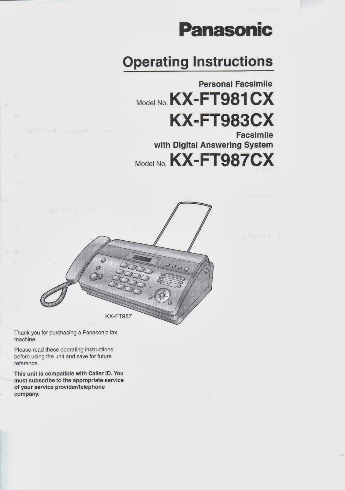 Jual Murah Panasonic Kx Ft 981 Fax Termurah 2018 Machine Ft987cx Facsimile Copy Telephone Answering System Program Telepon Manual Ft981 Ft983 Ft987