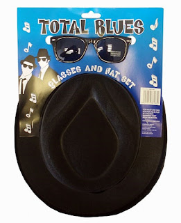 Total Blues Brothers Hat and Sunglasses