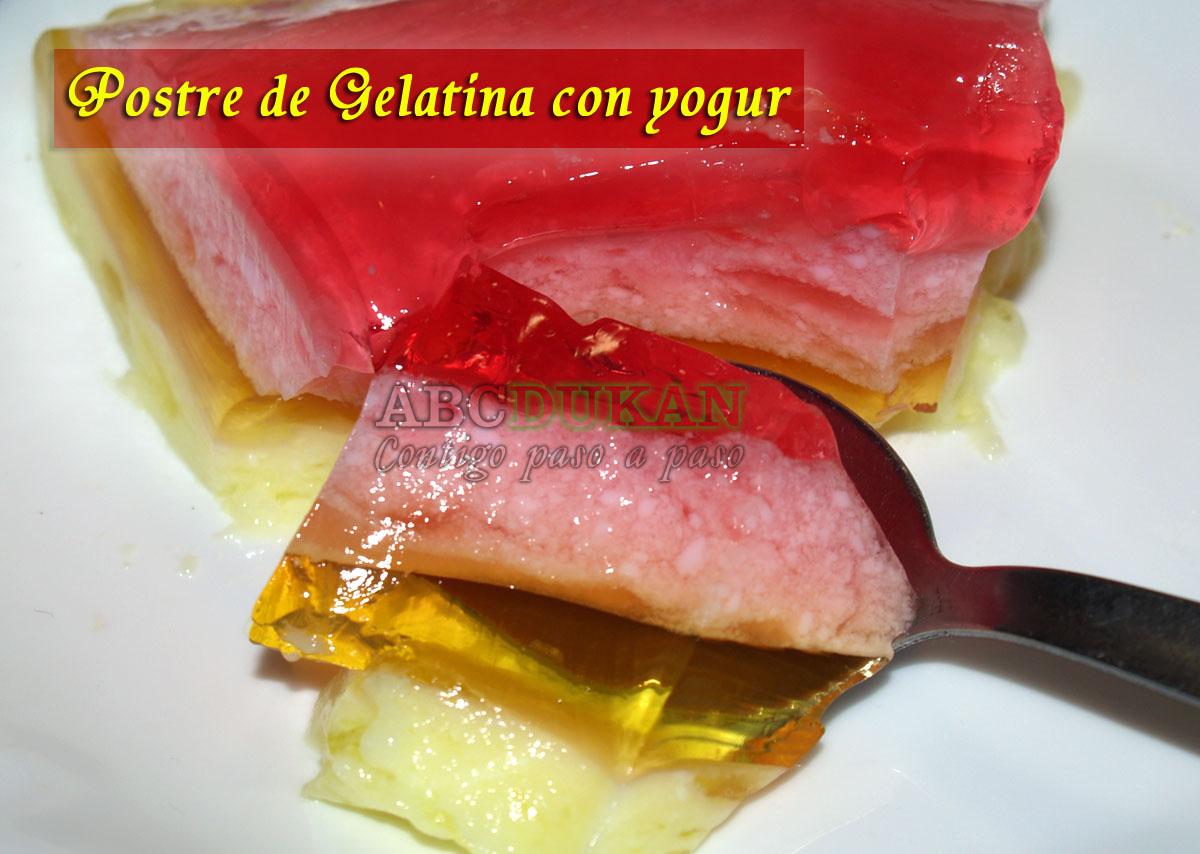 postre de gelatina con yogur