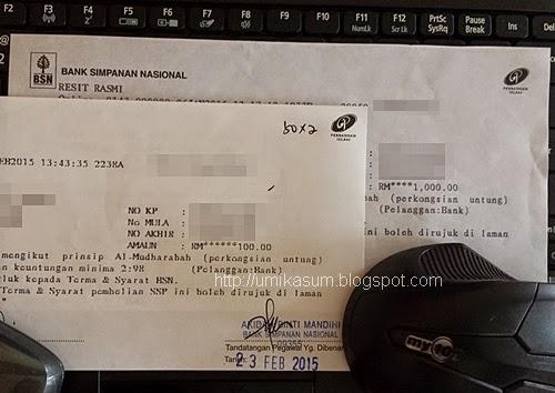 Beli Sijil Simpanan Premium (SSP BSN), harga 1 unit sijil SSP BSN, cabutan bertuah lucky draw Sijil Simpanan Premium BSN, hadiah menang cabutan bertuah SSP BSN, cara elak cukai GST dengan beli sijil SSP BSN, gambar Sijil Simpanan Premium BSN, blogger beli sijil SSP BSN dengan duit hasil berblog, konsep halal sijil SSP BSN, status terkini pematuhan syariah skim Sijil Simpanan Premium BSN, peraduan cabutan bertuah 2015