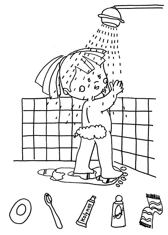 Imagenes De Un Baño Para Colorear:CuentosDeDonCocoCom: NIÑA BAÑÁNDOSE PARA COLOREAR