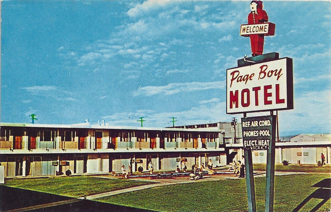 the postcard motel page boy motel page az. Black Bedroom Furniture Sets. Home Design Ideas