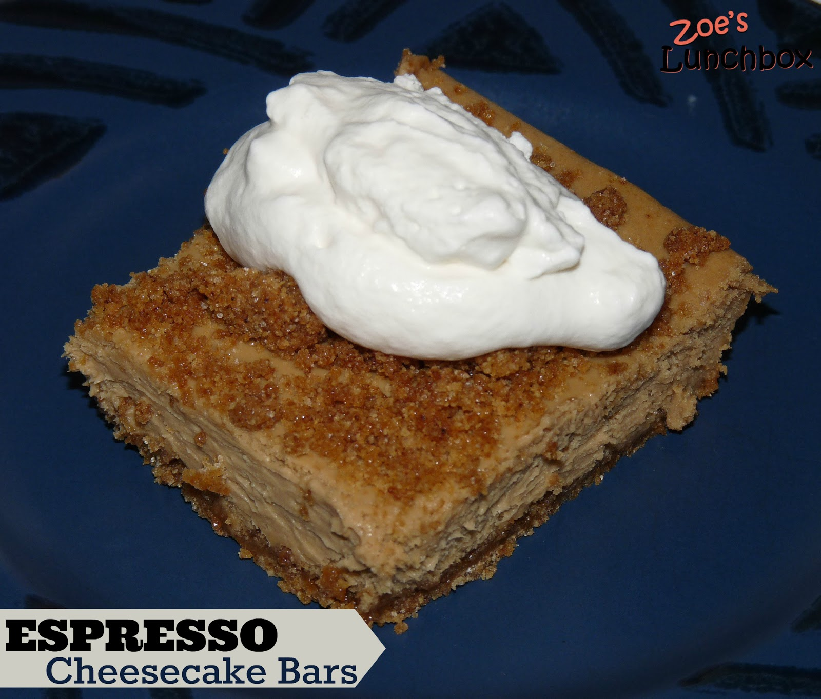 Espresso Cheesecake Bars