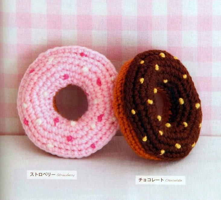 Free Online Crochet Patterns For Amigurumi : Free Japanese Craft Patterns: Strawberry And Chocolate ...