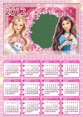 PSD Calendario 2012 - Barbie