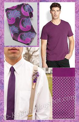 Мода модная одежда палитра Сияющая Орхидея Radiant Orchid цвет года 2014 украшения дизайн