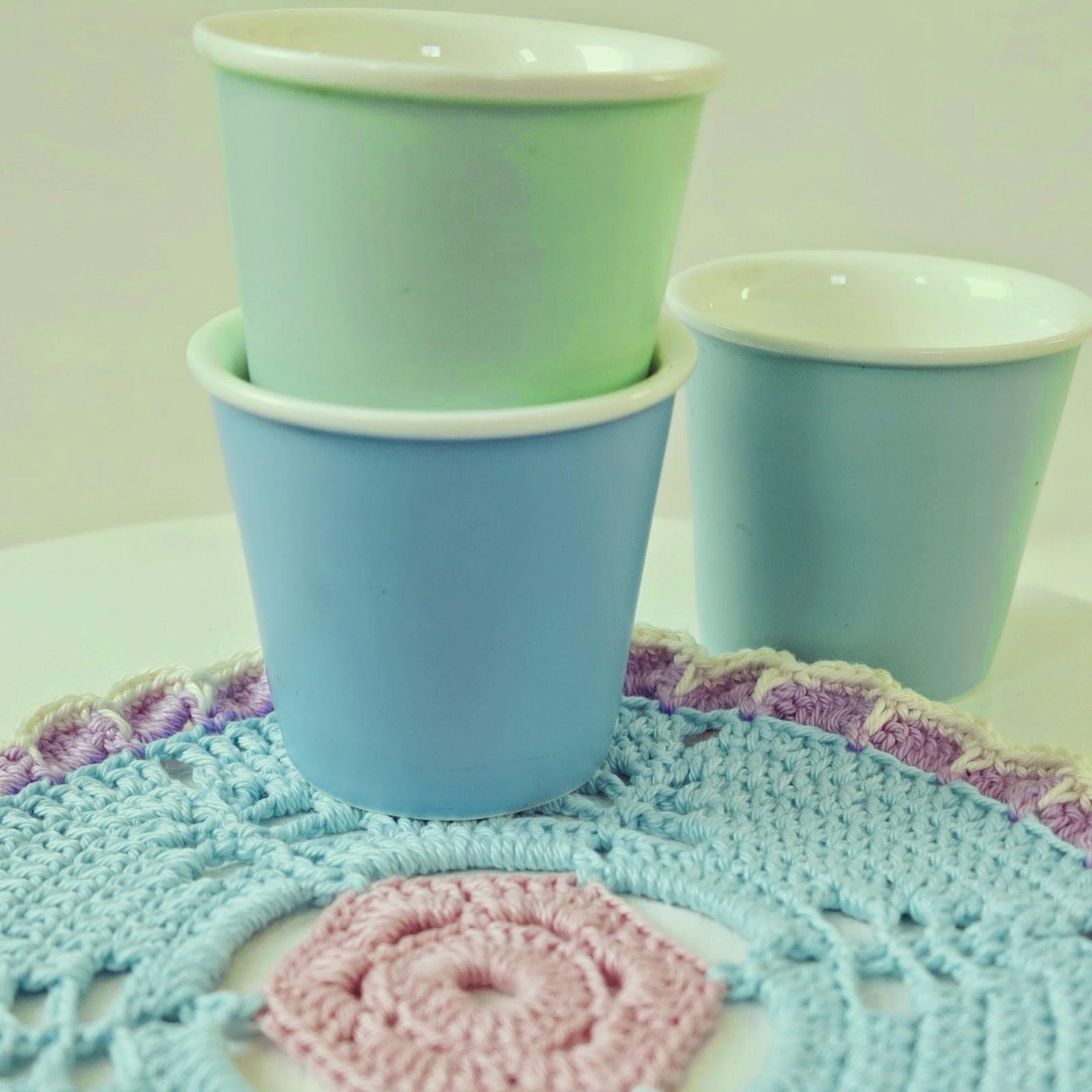 ByHaafner, crochet, doily, pastels