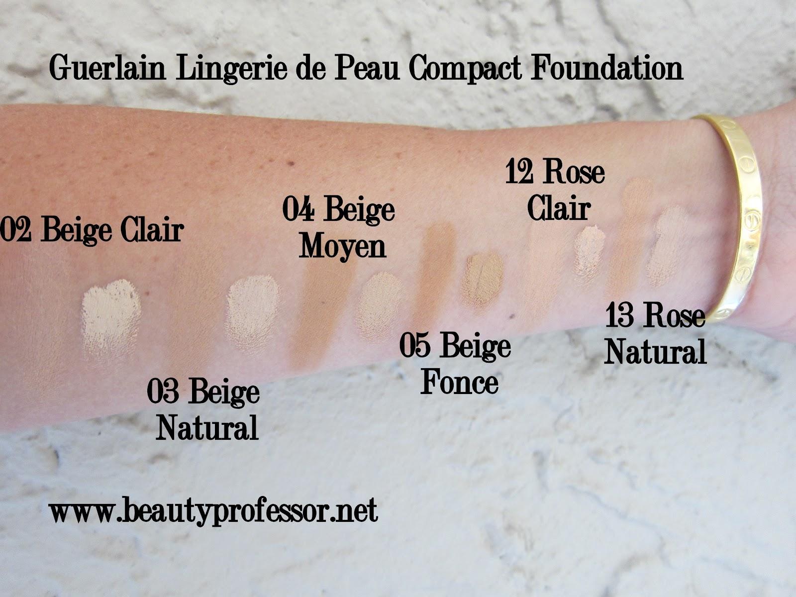 Beauty Professor Guerlain Lingerie De Peau Compact Foundation