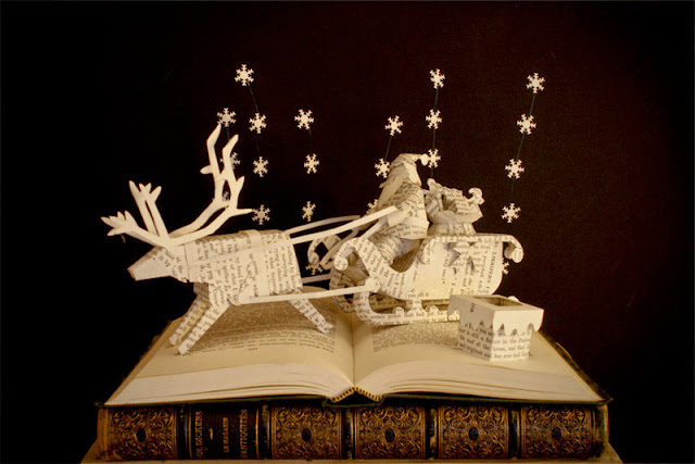 incredible book sculptures by Karine Diot