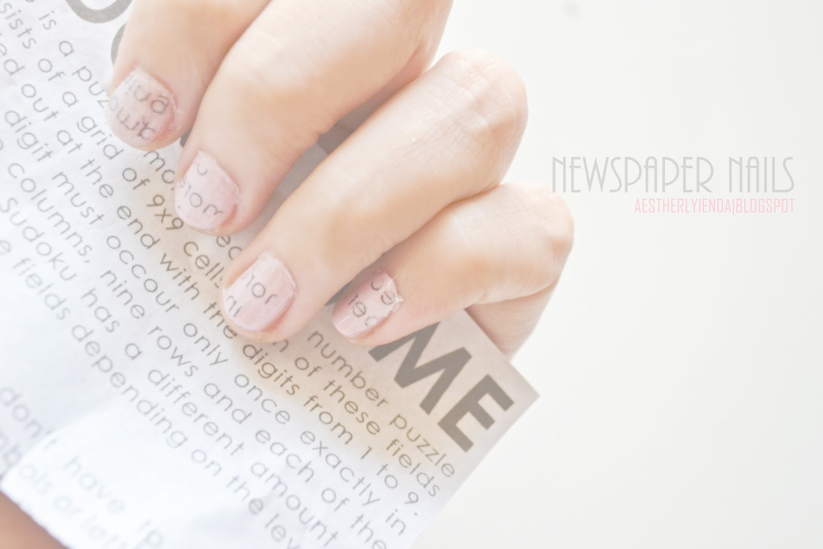 Newspaper Nails | aestherlyienda