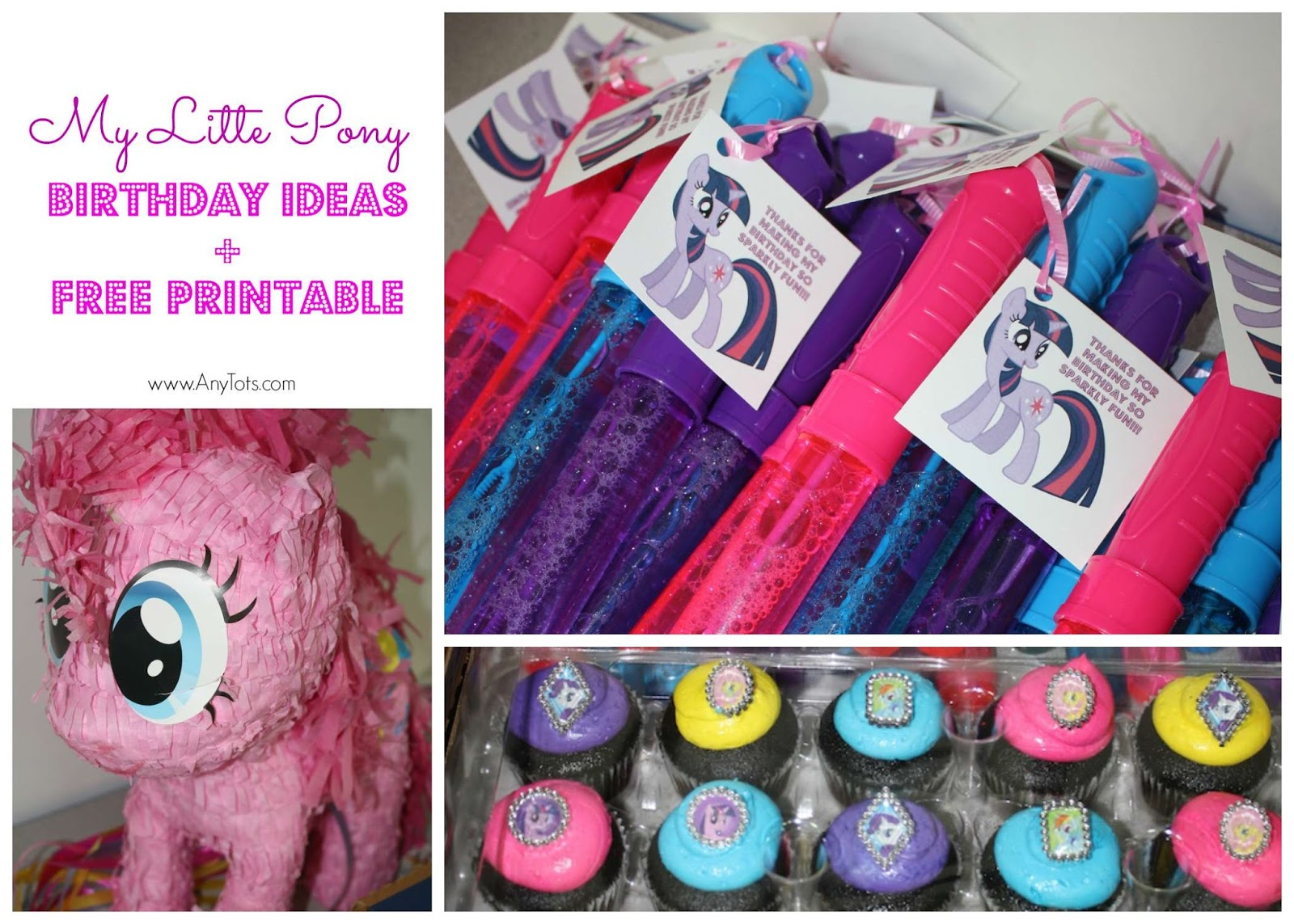 My Little Pony Birthday Ideas Free Printables